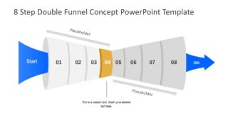 Funnel Diagram of 4 Step PPT