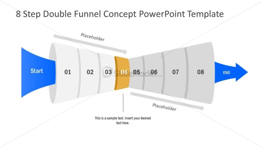 Funnel Diagram of 4 Step PPT