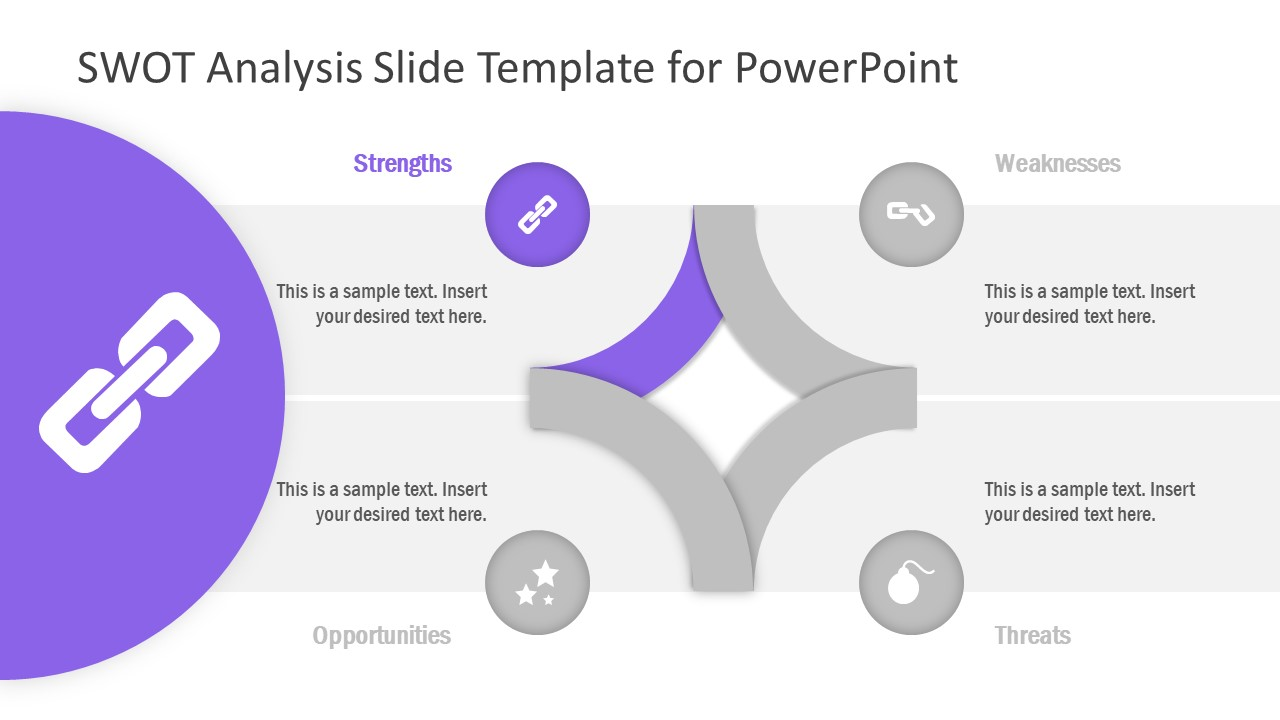 PowerPoint Diagram Template of Strengths
