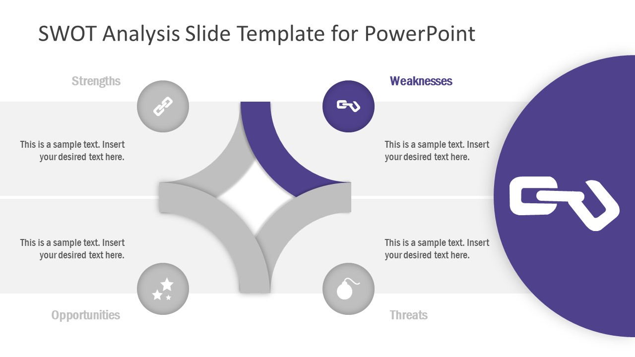 PowerPoint Diagram Template of Weaknesses