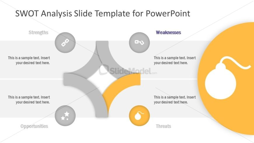 PowerPoint Diagram Template of Threats