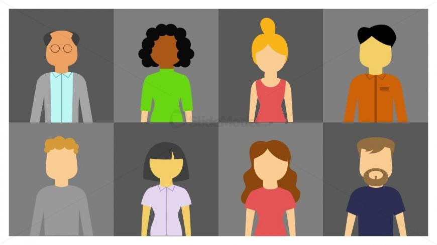 PowerPoint 8 People Silhouette