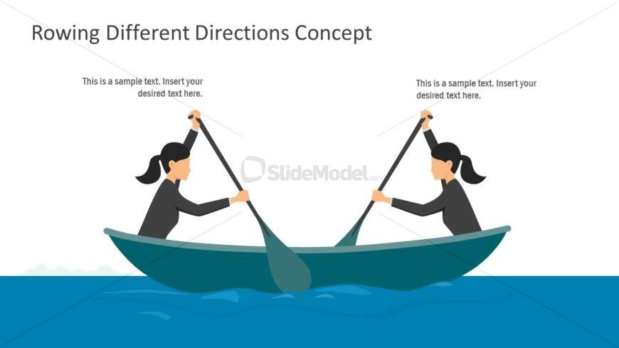 Slide of Rowing Opposite Direction
