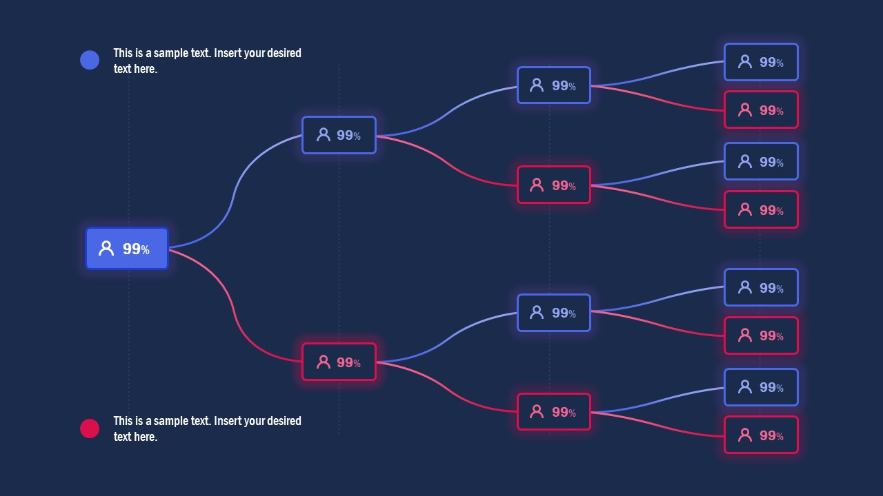 Infographic PowerPoint Horizontal Tree Diagram