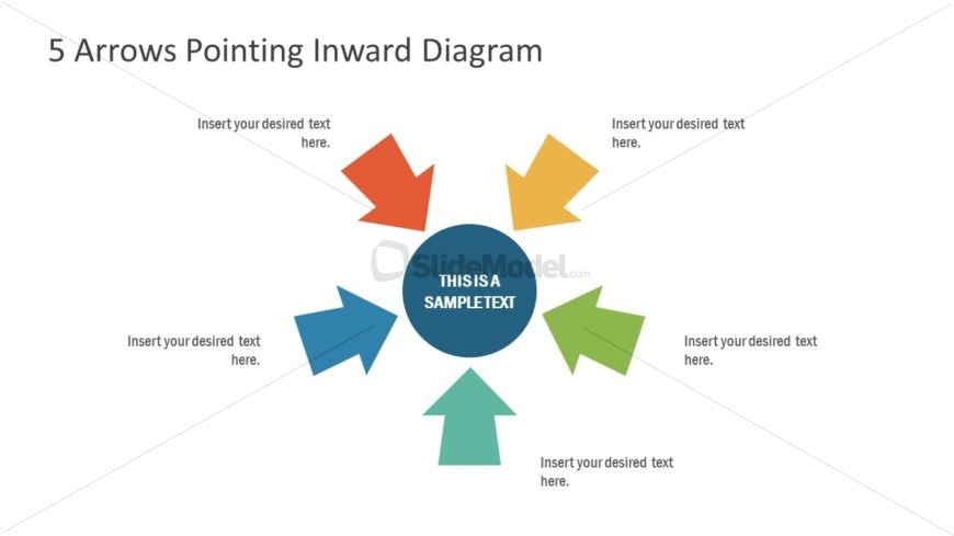 Inward Arrows 5 Steps Diagram