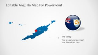 Flat Outline Map Template fo Anguilla