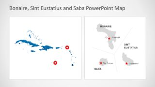 Bonaire Sint Eustatius and Saba PowerPoint Map