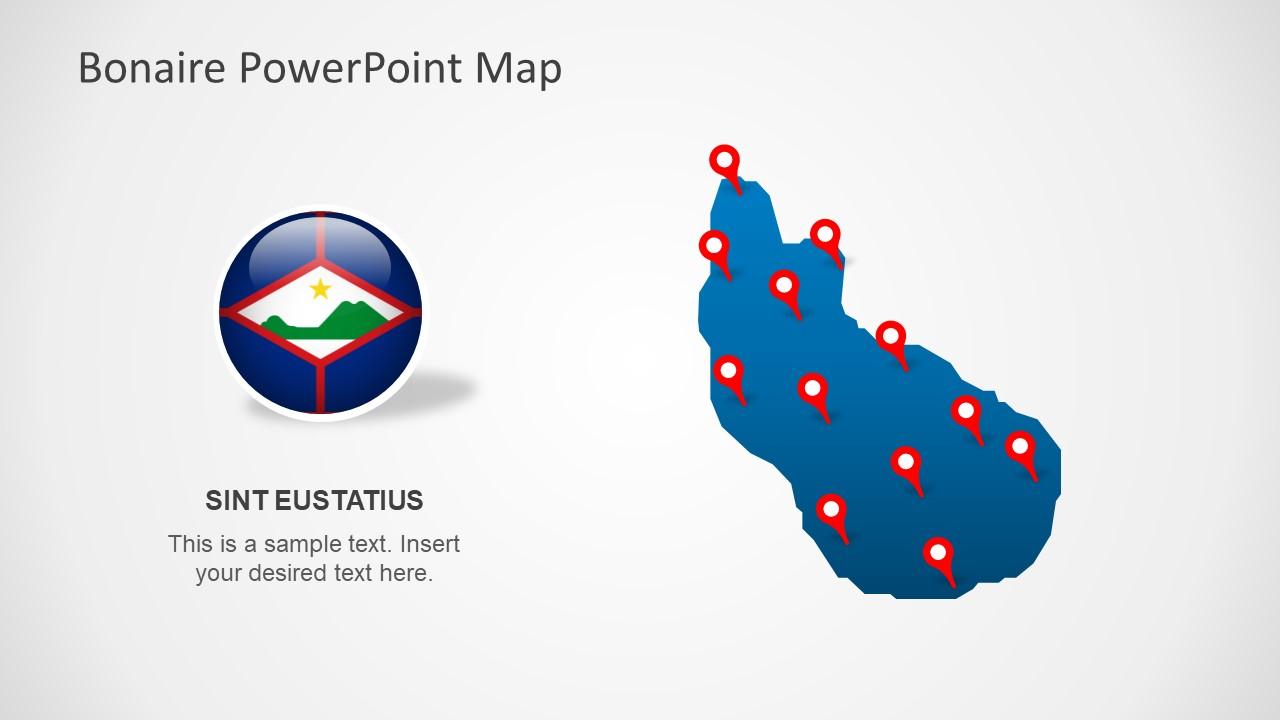 Template of Bonaire Sint Eustatius and Saba Maps