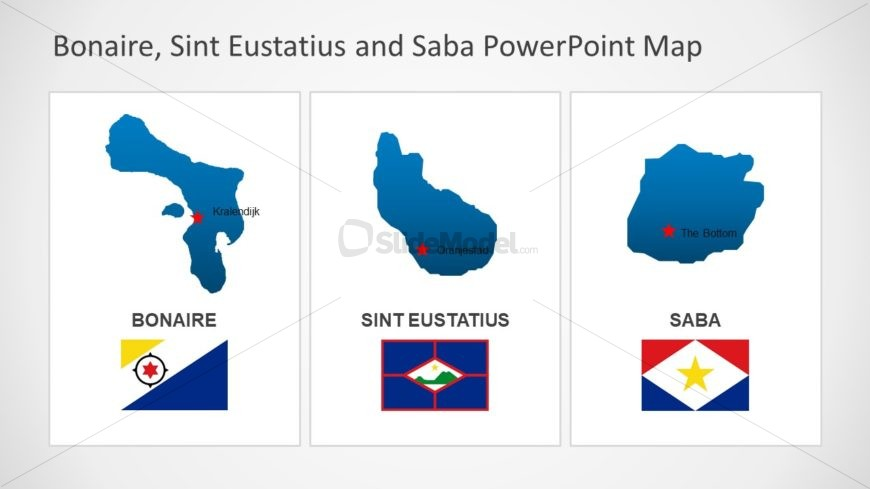 Bonaire Sint Eustatius and Saba Flag PPT
