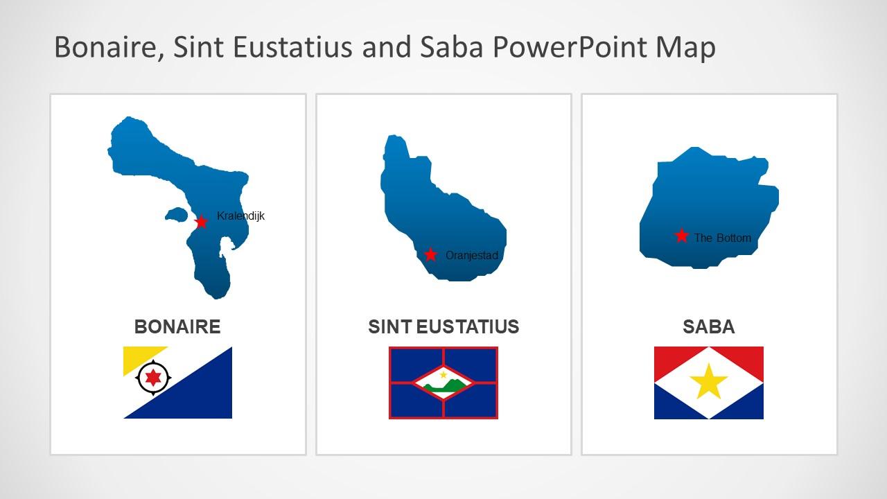 Bonaire Sint Eustatius and Saba Flag PPT