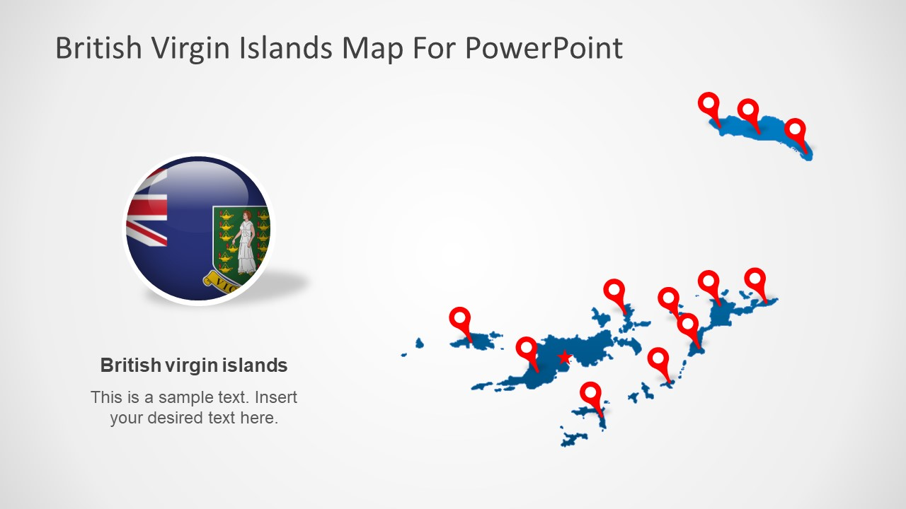 Map Template of British Virgin Island