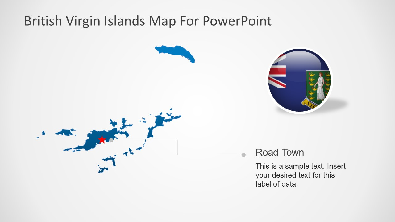 Map PowerPoint Silhouette Slide