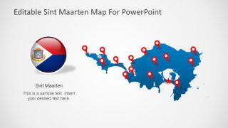 Sint Maarten PowerPoint Map