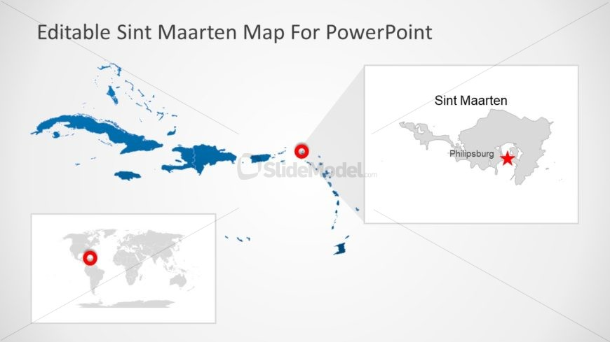 Silhouette Map of Sint Maarten