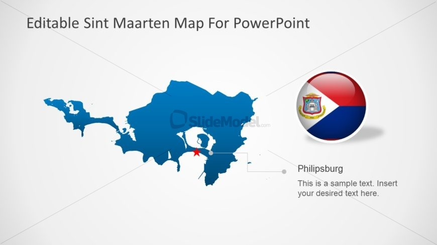 Editable PowerPoint Map Silhouette