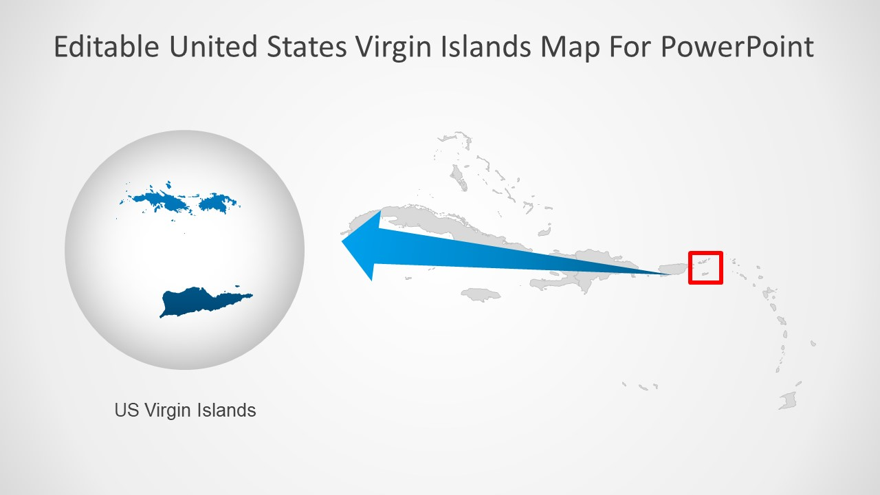 Outline Map Template of Virgin Islands