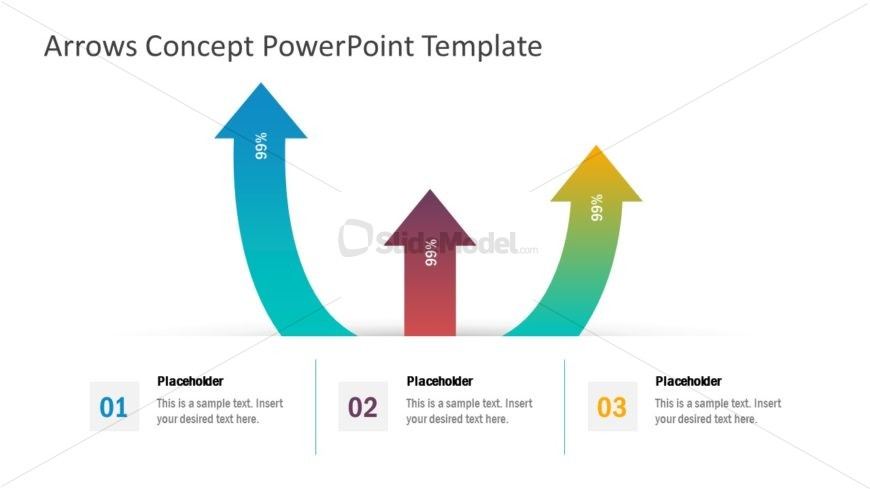 Infographic PowerPoint Arrow Concept