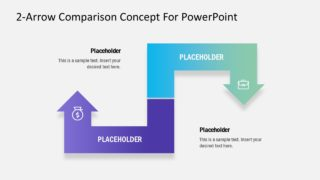 2-Arrow Comparison PowerPoint Template
