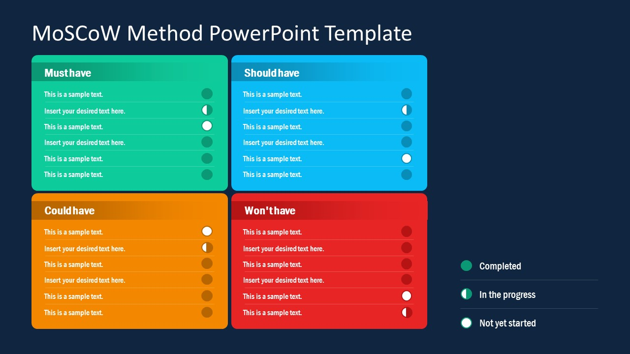 moscow project planning model powerpoint