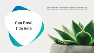 Flat PowerPoint Editable Template