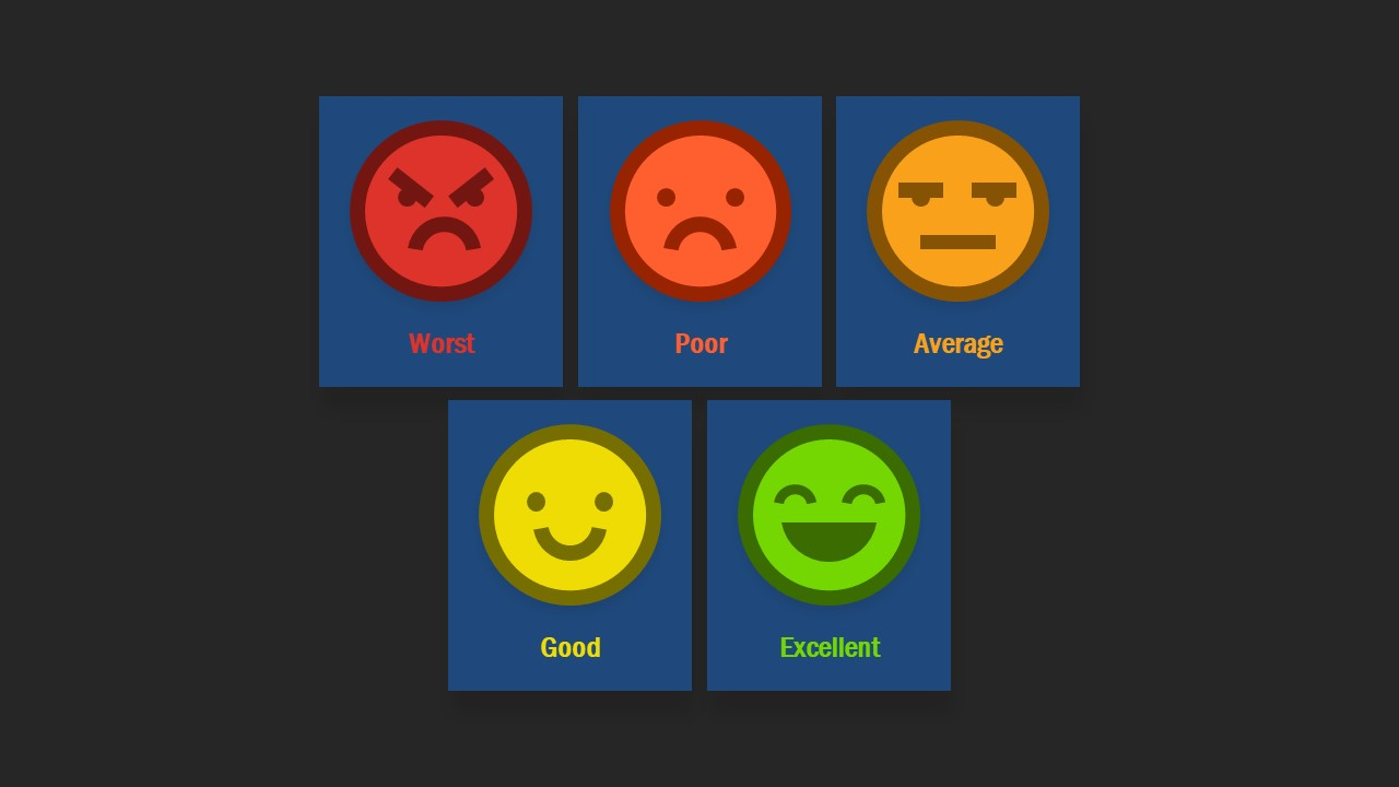 Survey Feedback PowerPoint Emoji