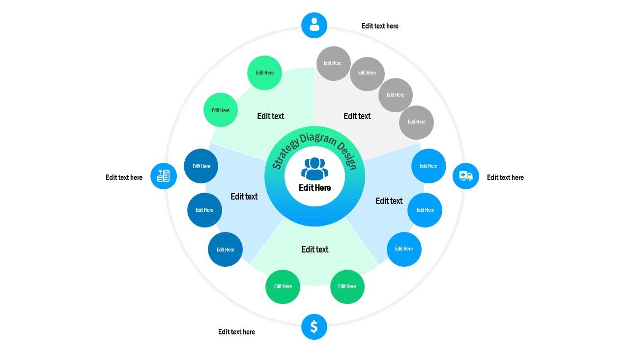 Organizational Network PowerPoint Diagram