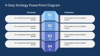 Flat PowerPoint 4 Steps Diagram