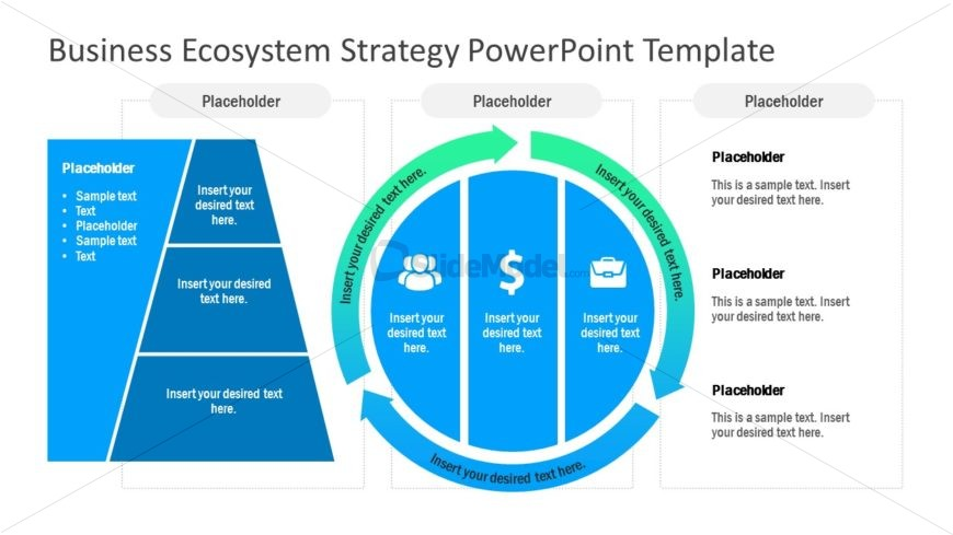 PowerPoint Ecosystem Diagram For Business