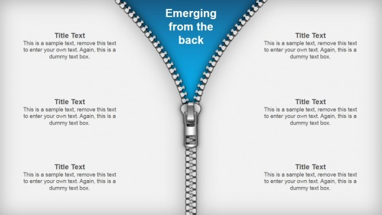 Editable Zipper Shapes for PowerPoint