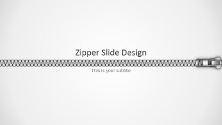 PowerPoint Zipper Shapes Horizontal Design
