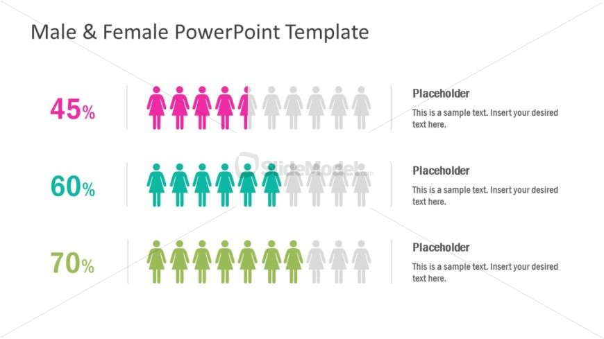 Slide of Male and Female Infographics