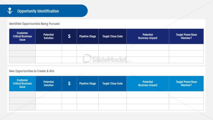 Opportunity Identification Template Account Plan