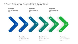 6 Step Chevron PowerPoint Template