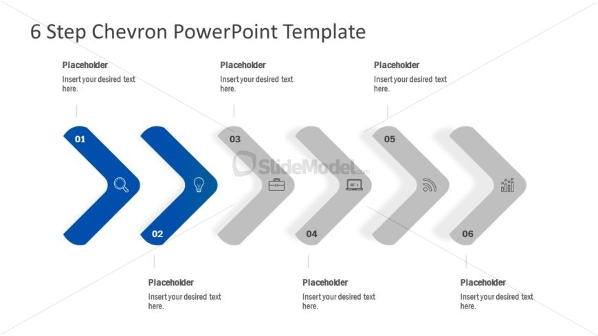 PPT Editable Chevron Diagram