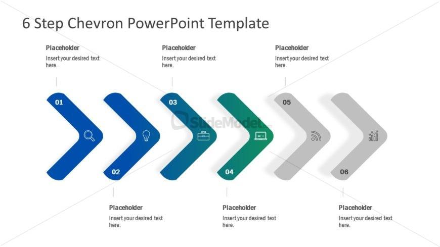Presentation of Chevron Horizontal Timeline