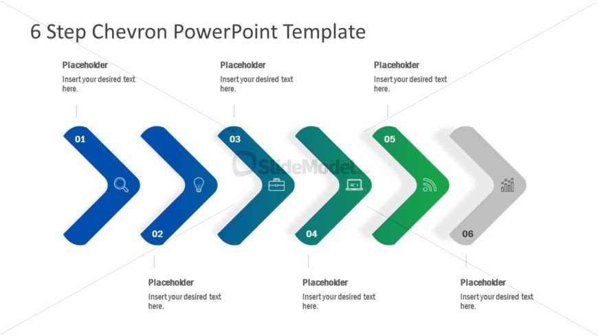 Flat Infographic Chevron Diagram