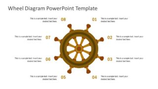 8-Step Ship Wheel Diagram for PowerPoint