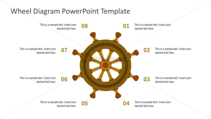 Ship Wheel Illustration PowerPoint