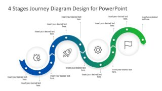 4 Stages Journey Diagram Design for PowerPoint