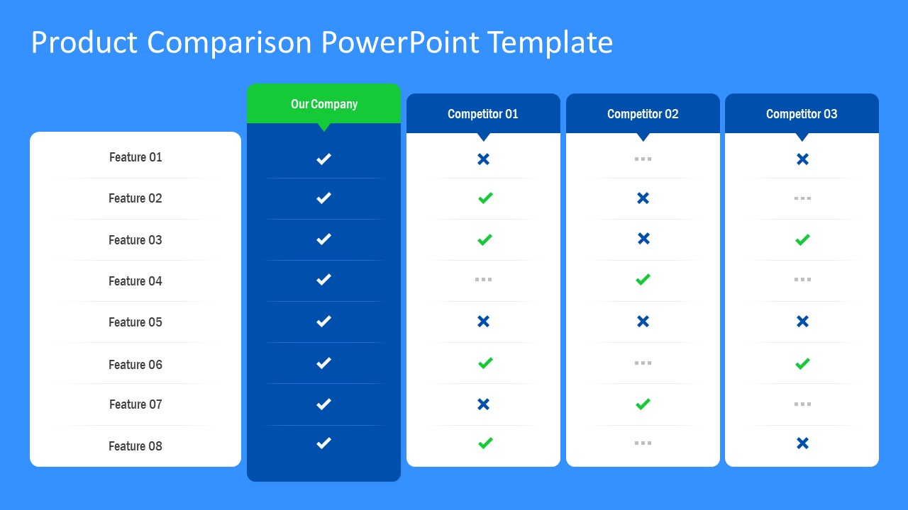 Data Table PowerPoint Marketing