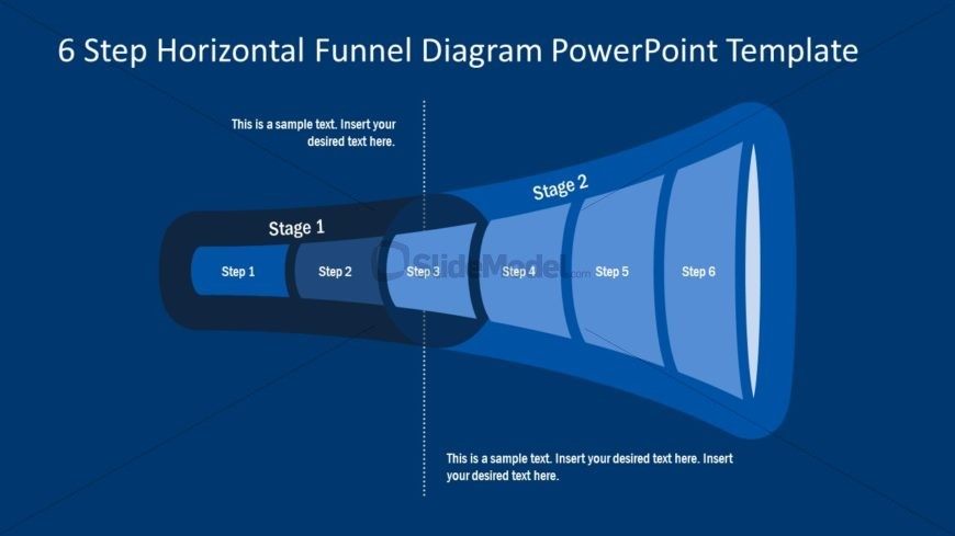 Presentation of 6 Steps Blue Funnel