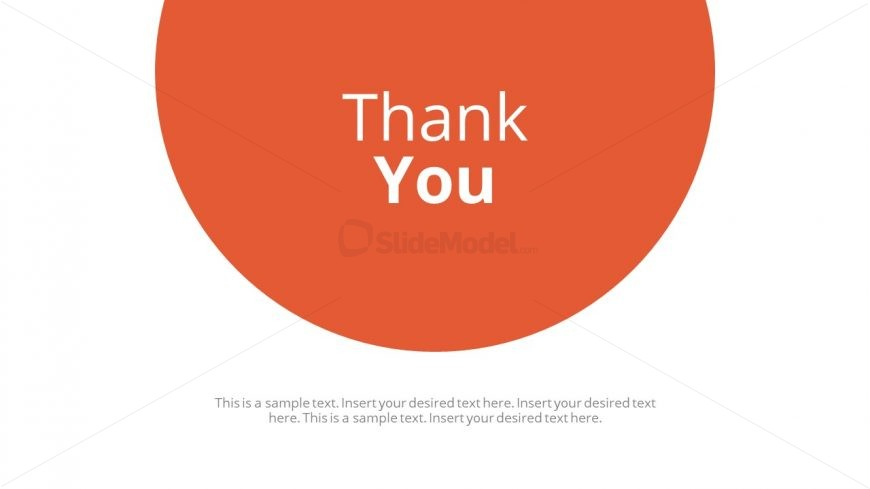 Presentation End Template Thank You