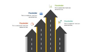 Road Highway Vertical Timeline Template