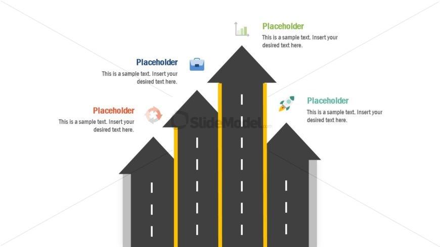 Road Highway Vertical Timeline Template