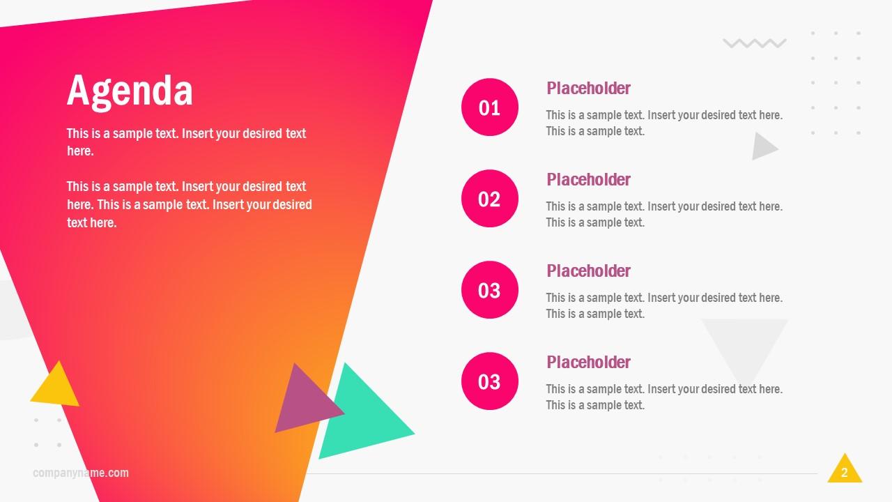 Agenda PowerPoint Bullet List Template