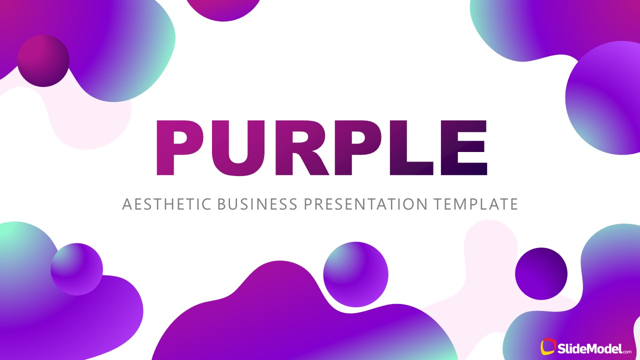 Presentation of Purple Aesthetic Cover Template