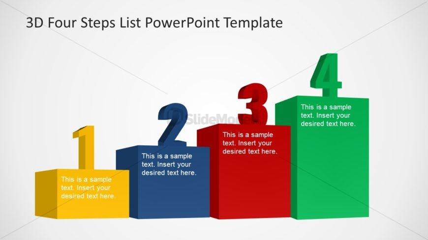 Presentation of Bar Chart 4 Steps