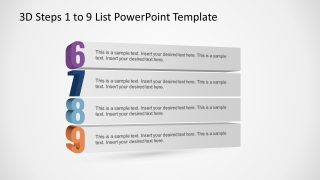 PowerPoint Bullet Points Template 6 to 9 List
