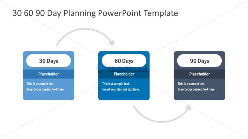 3 Steps Process Flow 30-60-90 Day