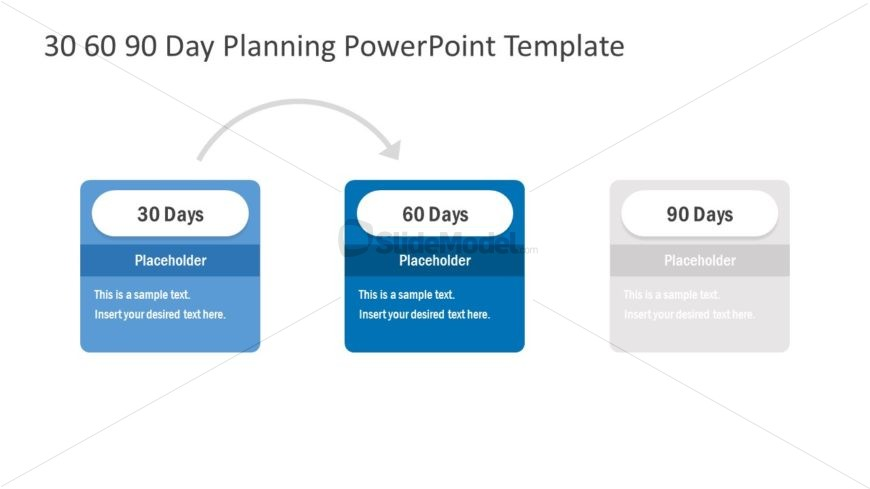 Slide of 30-60-90 Day Planning